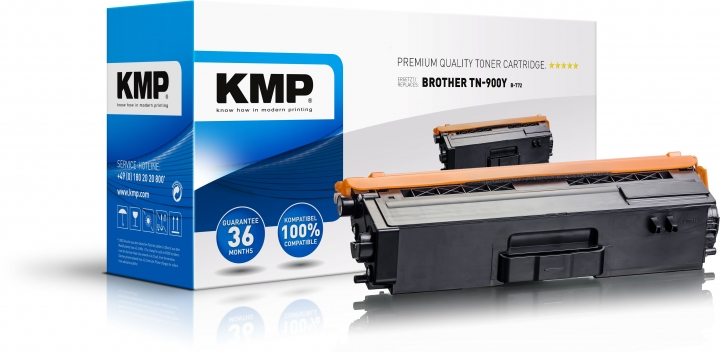 KMP B-T72 Toner Gelb ersetzt Brother TN-900Y