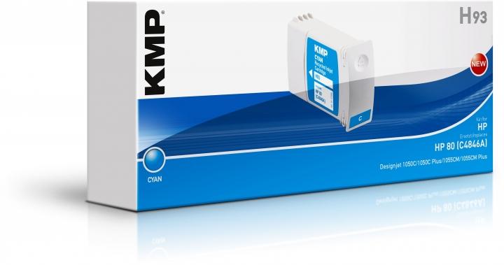 KMP H93 Tinte ersetzt HP 80 (C4846A)