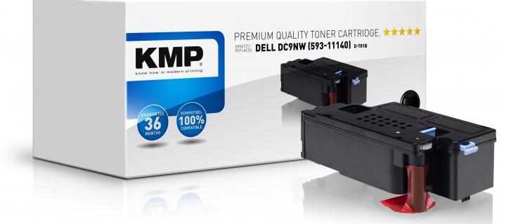 KMP D-T81B Toner Schwarz ersetzt Dell DC9NW (593-11140)