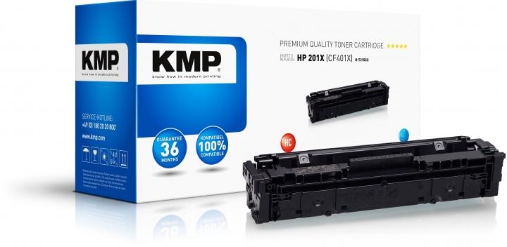 KMP H-T215CX Toner Cyan ersetzt HP Color LaserJet MFP M 277n / HP M 250/252-Copy