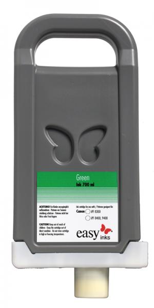 easy inks Tintentank Grün für Canon iPF8400, 8400S, 8400SE, 9400, 9400S, kompatibel zu PFI-706, 7