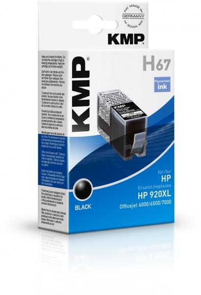 KMP H67 Tintenpatronen Singlepack H67 für HP Officejet 6000/6500/7000