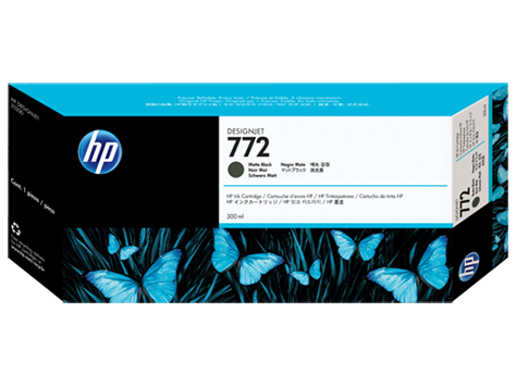 HP 772 Mattschwarz DesignJet Tintenpatrone, 300 ml