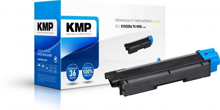 KMP K-T53 Toner ersetzt Kyocera TK590C (1T02KVCNL0)