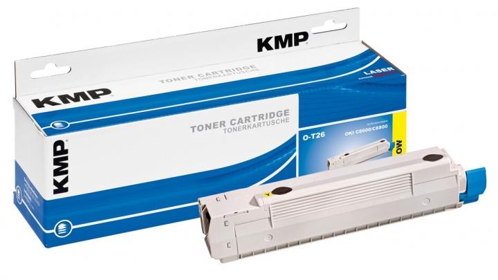 KMP O-T26 Toner für OKI 43487710 / C8600/C8800 yellow