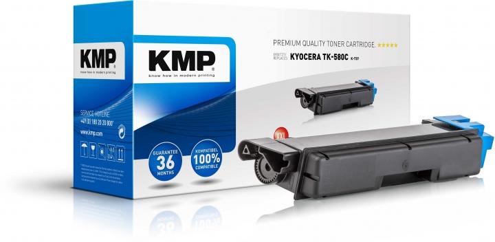 KMP K-T57 Toner XXL Cyan ersetzt KYOCERA TK580C (1T02KTCNL0)