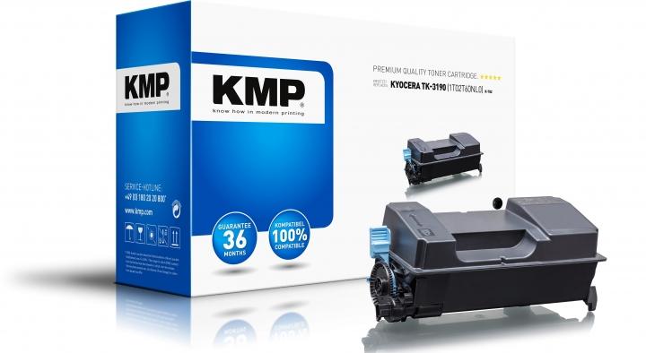 KMP Toner K-T82 Schwarz ersetzt Kyocera TK3190 (1T02T60NL0)