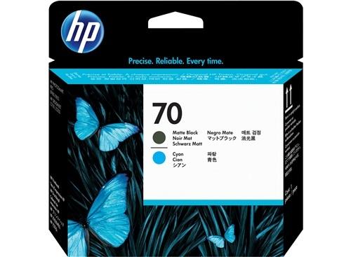HP Nr. 70 (C9404A) Schwarz + Cyan