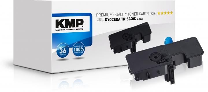 KMP Toner K-T84C Cyan ersetzt Kyocera TK5240C (1T02R7CNL0)
