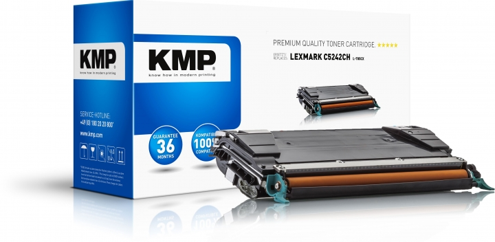 KMP L-T85CX Toner Cyan ersetzt Lexmark C5242CH
