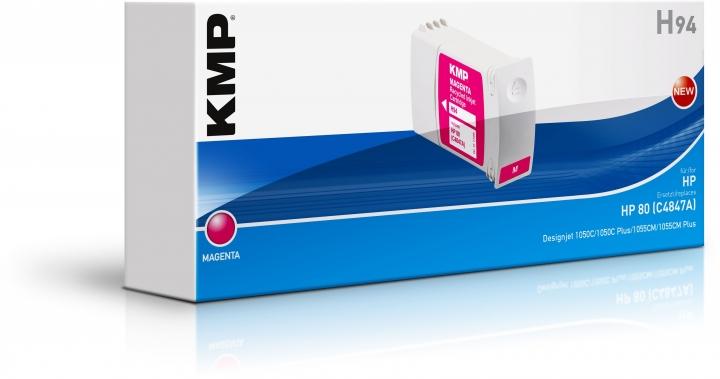 KMP H94 Tinte ersetzt HP 80 (C4847A)