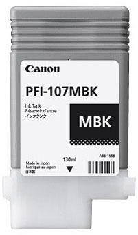 Canon Tinte mattschwarz PFI-107MBK 130ml