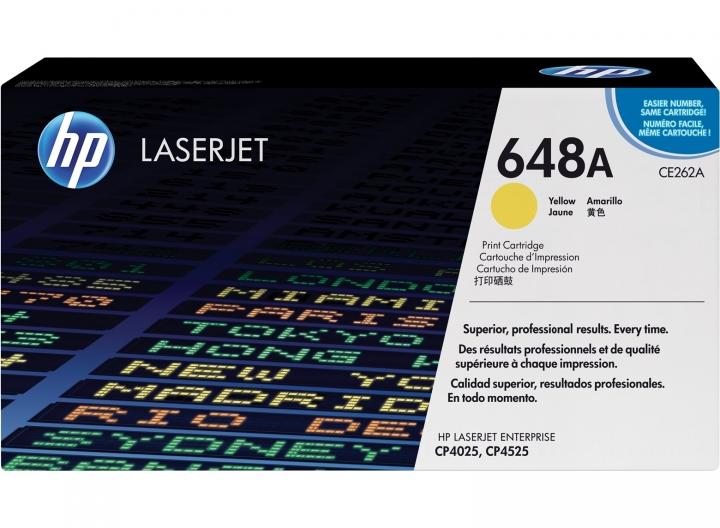 Toner HP CE262A, Nr 648A gelb 11000 Seiten