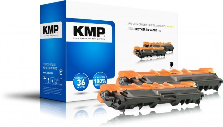 KMP B-T57D Toner Schwarz Doppelpack für Brother TN242BK