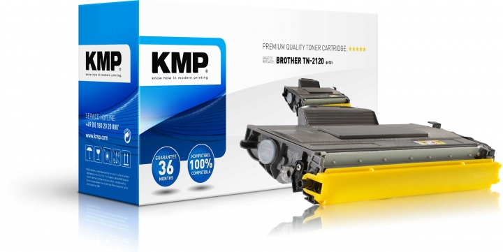 KMP B-T21 Toner ersetzt Brother TN-2120 für HL-2140/HL-2150N/HL-2170W, DCP-7030 black