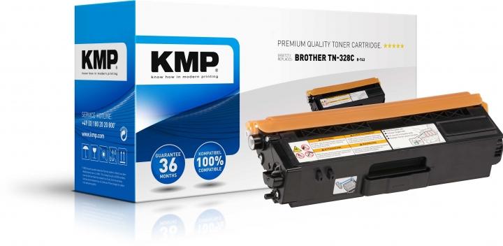 KMP B-T43 Toner Cyanersetzt BROTHER TN328C