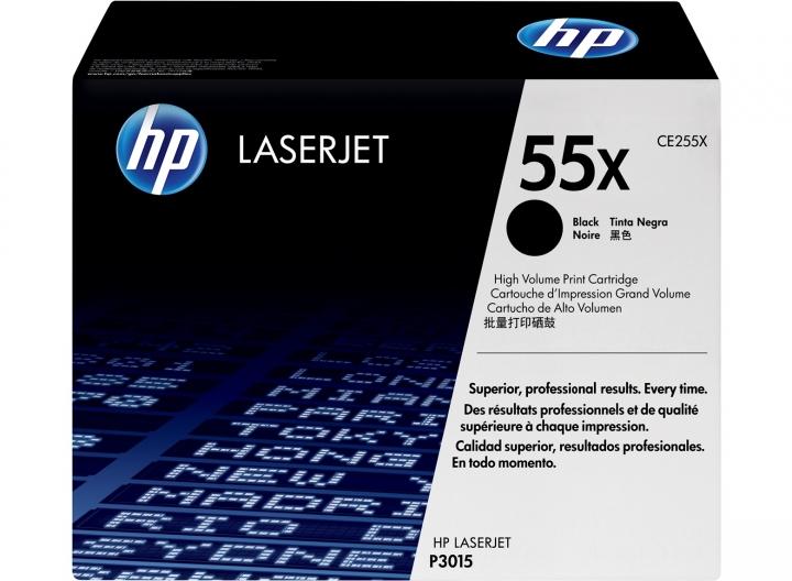 Toner HP CE255X, Nr 55X schwarz 12500 Seiten