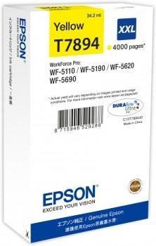 Epson C13T789440 / T7894 gelb XXL Tintenpatrone Original