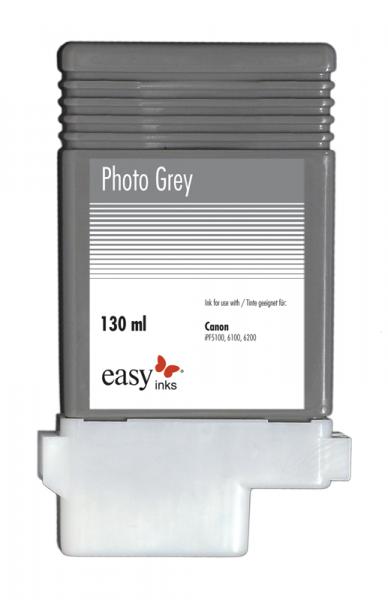 Easy Ink Tintentank Photo Grau für Canon iPF5100, iPF6100, iPF6200 mit kompatibler PFI-103 Tinte, 13