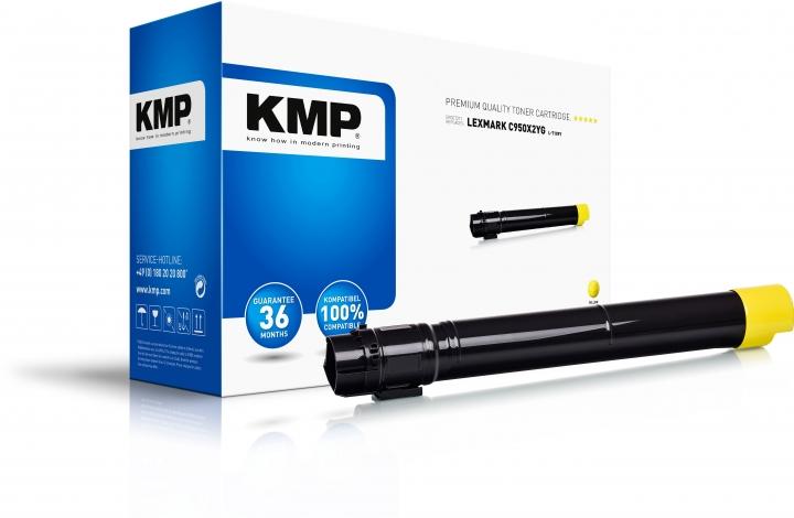 KMP L-T109Y Toner Gelb ersetzt Lexmark C950 (C950X2YG)