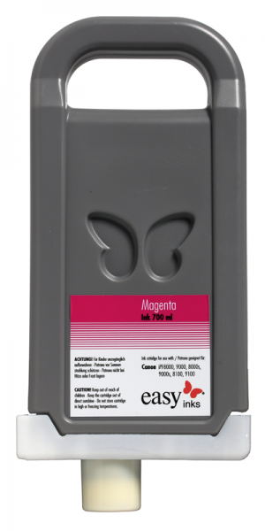 easy inks Tintentank Magenta für Canon iPF8400, 8400S, 8400SE, 9400, 9400S, kompatibel zu PFI-706, 7