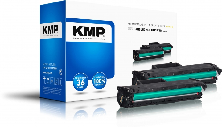 KMP SA-T85D Doppelpack Toner Schwarz ersetzt Samsung 111S (MLTD111SELS)