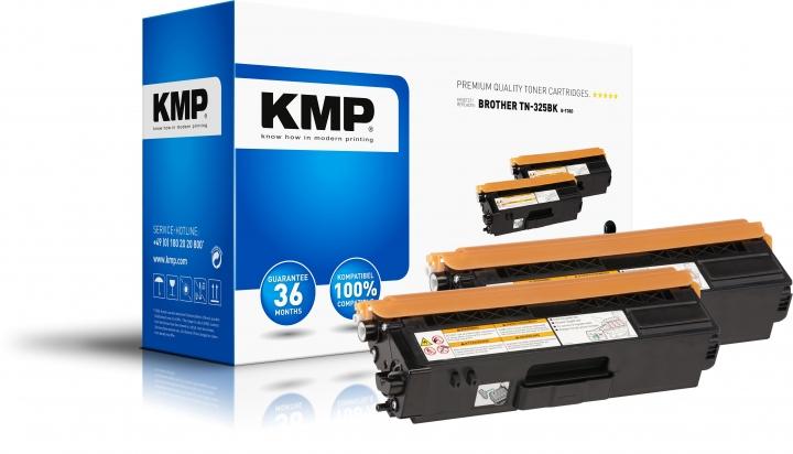 KMP B-T38D Toner Schwarz Doppelpack für Brother TN-325BK black