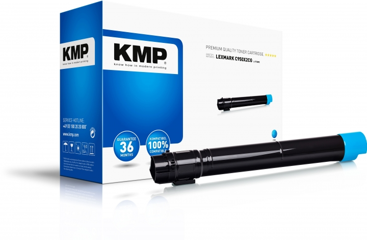 KMP L-T109C Toner Cyan ersetzt Lexmark C950 (C950X2CG)