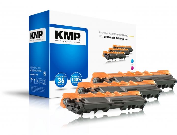 KMP B-T241C/M/Y Trommel ersetzt Brother TN-241C/M/Y passend für DCP-9020CDW/HL- 3170CDW/MFC-9340CW