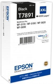 Epson C13T789140 / T7891 schwarz XXL Tintenpatrone Original