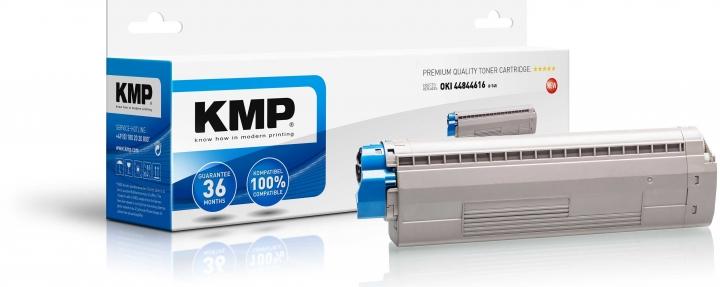 KMP O-T45 Toner Schwarz ersetzt OKI 44844616