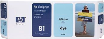 HP 81 Tinte hell cyan 680ml für DesignJet 5000/PS