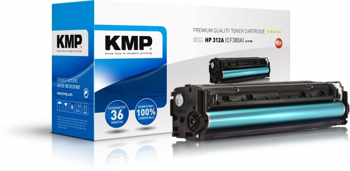KMP H-T195 Toner schwarz ersetzt HP 312A (CF380A)