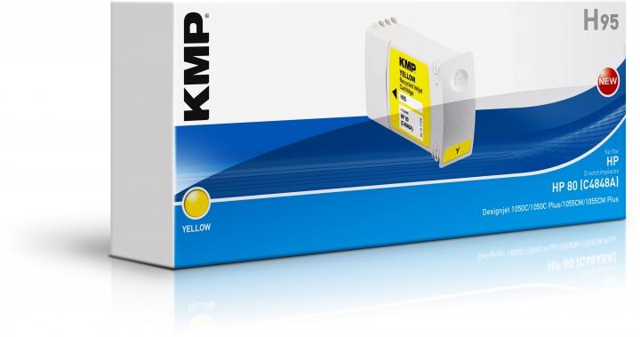 KMP H95 Tinte ersetzt HP 80 (C4848A)