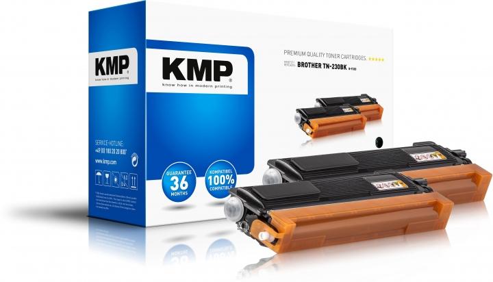KMP B-T32D Toner Schwarz Doppelpack für BrotherTN230BK