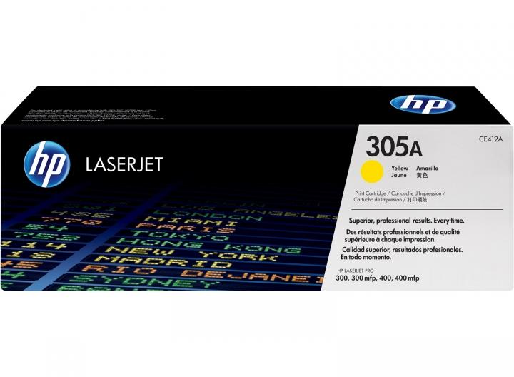 Toner HP CE412A, Nr 305A gelb 2600 Seiten