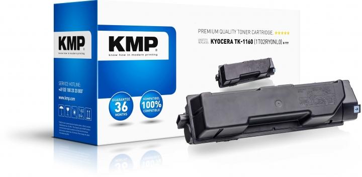 KMP K-T77 Toner Schwarz ersetzt KYOCERA TK1160 (1T02RY0NL0)