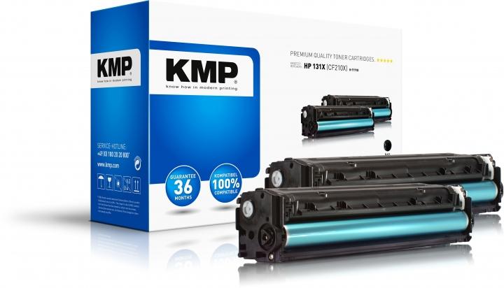 KMP H-T171D Toner Doppelpack Schwarz ersetzt HP 131X (CF210X)
