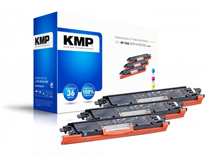 KMP H-T149CMY Toner Mulitpack ersetzt HP126A (CE311A, CE313A, CE312A)