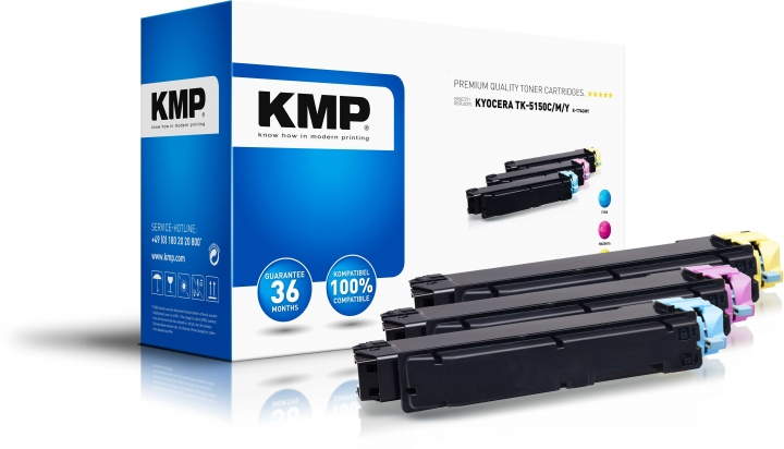 KMP K-T74CMY Toner Multipack ersetzt Kyocera TK5150C (1T02NSCNL0), Kyocera TK5150M (1T02NSBNL0), Kyo