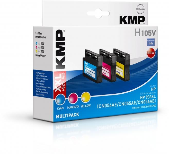 KMP H105V Tinte Multipack ersetzt HP 932XL (CN053AE), 933XL (CN054AE, CN055AE, CN056AE)