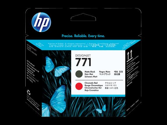 HP 771 Mattschwarz / Chromrot DesignJet Druckkopf