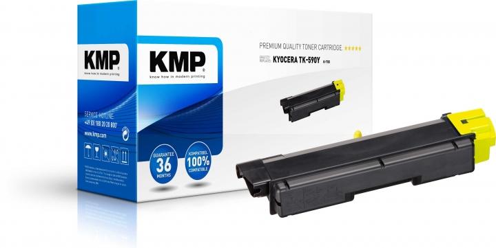 KMP K-T55 Toner ersetzt Kyocera TK590Y (1T02KVANL0)