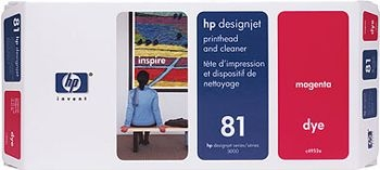 HP 81 Druckkopf + Reiniger magenta No.81