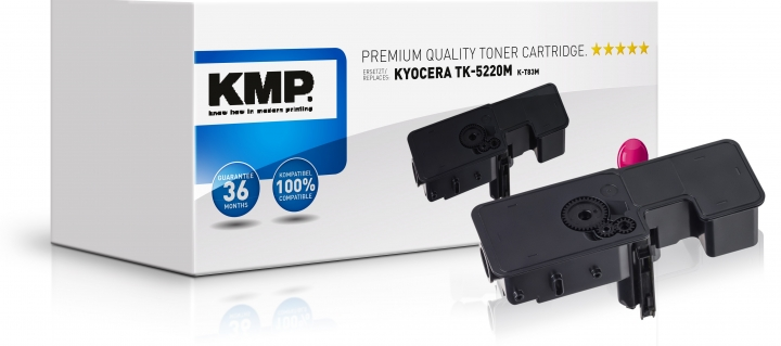 KMP Toner K-T83M Magenta ersetzt Kyocera TK5220M (1T02R9BNL1)