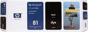 HP 81 Tinte schwarz 680ml für DesignJet 5000/PS