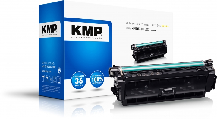 KMP H-T223BX Toner Schwarz ersetzt HP 508X (CF360X)