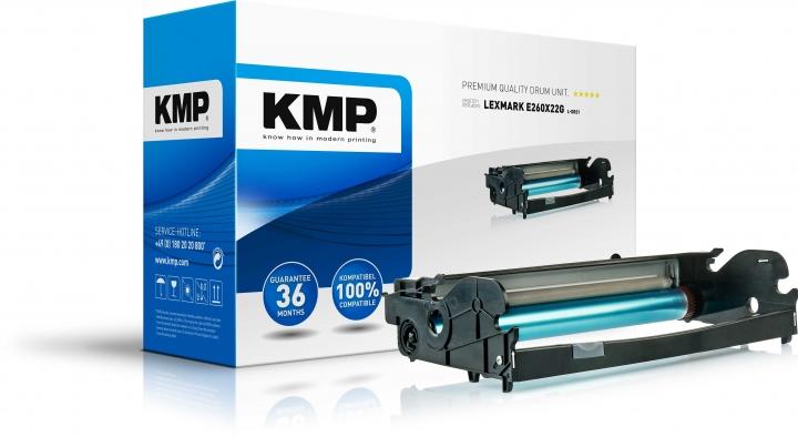 KMP L-DR21 Bildtrommel, schwarz, kompatibel zu E260X22G (1381,7000)