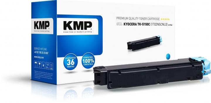 KMP K-T74C Toner Cyan ersetzt Kyocera TK5150C (1T02NSCNL0)
