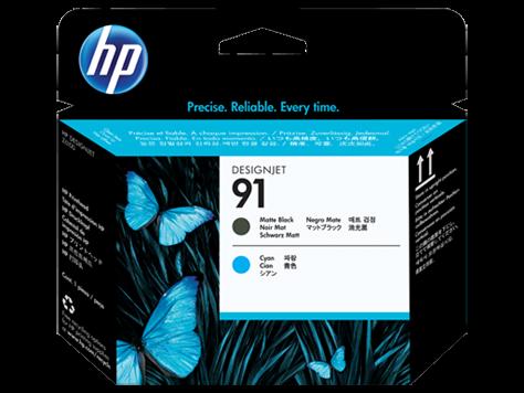 HP 91 Druckkopf matte black + cyan - C9460A